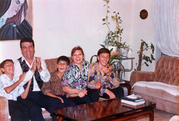 The family in 1996 Baghdad, Iraq